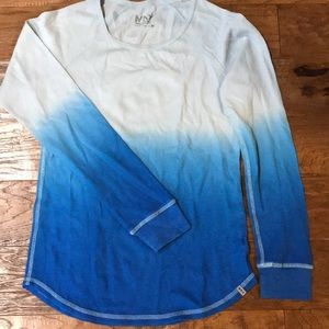 Blue ombré Marc New York thermal long sleeve